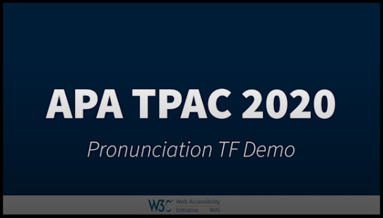 Title Image from APA TPAC 2020 Pronunciation Task Force Demo class=